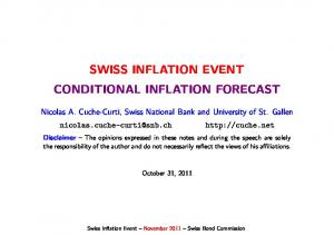 SWISS INFLATION EVENT CONDITIONAL INFLATION FORECAST