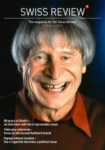 SWISS REVIEW. The magazine for the Swiss Abroad February 2016