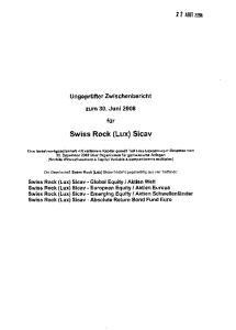 Swiss Rock (Lux) Sicav