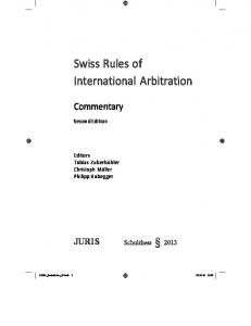 Swiss Rules of International Arbitration