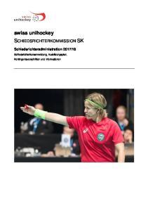 swiss unihockey SCHIEDSRICHTERKOMMISSION SK