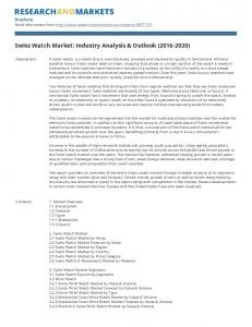 Swiss Watch Market: Industry Analysis & Outlook ( )