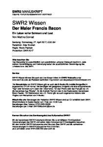 SWR2 Wissen Der Maler Francis Bacon