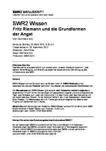 SWR2 Wissen Fritz Riemann und die Grundformen der Angst