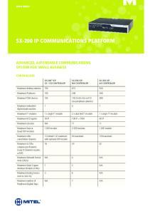 SX-200 IP Communications Platform