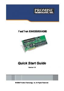 SX4060 Quick Start Guide