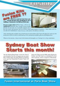 Sydney Boat Show Starts this month!