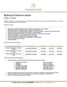 Sydney & Hamilton Island