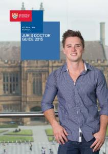SYDNEY LAW SCHOOL JURIS DOCTOR GUIDE 2015