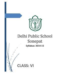 Syllabus: CLASS: VI