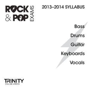 SYLLABUS EXAMS. Bass. Drums. Guitar. Keyboards. Vocals
