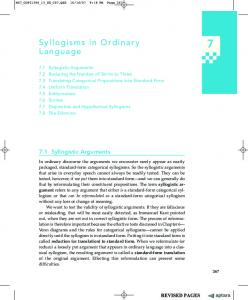 Syllogisms in Ordinary Language