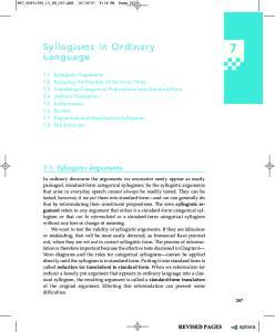 Syllogisms in Ordinary Language
