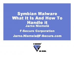 Symbian Malware What It Is And How To Handle it