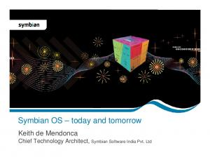 Symbian OS today and tomorrow