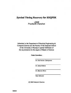 Symbol Timing Recovery for SOQPSK