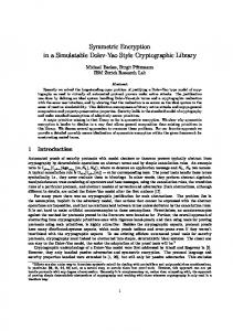 Symmetric Encryption in a Simulatable Dolev-Yao Style Cryptographic Library