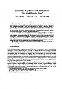 Symmetric-Key Broadcast Encryption: The Multi-Sender Case