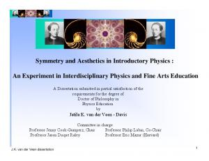 Symmetry and Aesthetics in Introductory Physics :