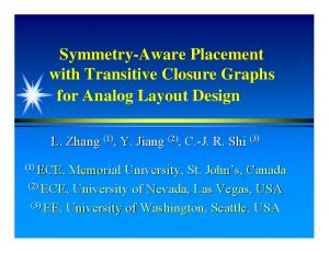 Symmetry-Aware Placement with Transitive Closure Graphs for Analog Layout Design