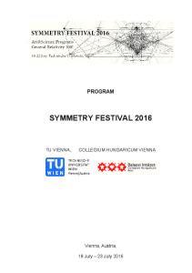 SYMMETRY FESTIVAL 2016