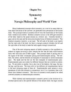 Symmetry in Navajo Philosophy and World View