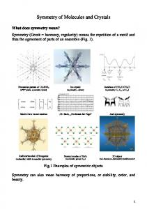 Symmetry of Molecules and Crystals