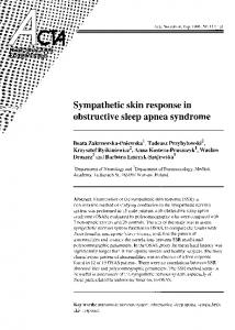 Sympathetic skin response in obstructive sleep apnea syndrome