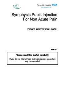 Symphysis Pubis Injection For Non Acute Pain