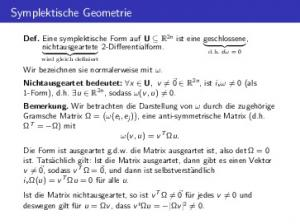 Symplektische Geometrie