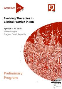 Symposium 202. Evolving Therapies in. Hilton Prague Prague, Czech Republic. Preliminary Program. submitted