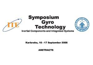 Symposium Gyro Technology
