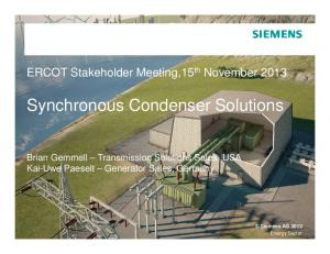 Synchronous Condenser Solutions