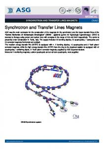 Synchrotron and Transfer Lines Magnets