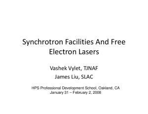 Synchrotron Facilities And Free