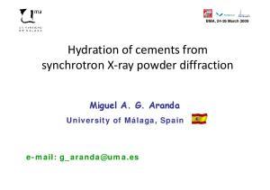 synchrotron X ray powder diffraction