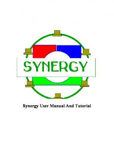 Synergy User Manual And Tutorial