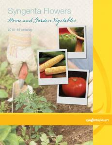Syngenta Flowers. Home and Garden Vegetables catalog