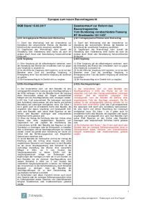 Synopse zum neuen Bauvertragsrecht