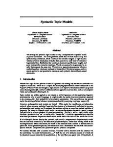 Syntactic Topic Models