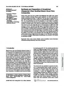 Synthesis and Preparation of Crosslinked Allylglycidyl Ether-Modified Starch-Wood Fibre Composites