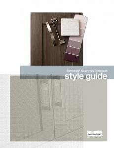 Synthesis Casework Collection. style guide