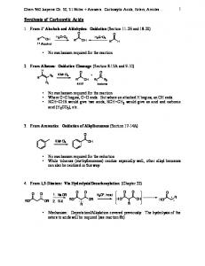 Synthesis of Carboxylic Acids