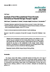 Synthesis of Novel Nitro-substituted Triaryl Pyrazole Derivatives as Potential Estrogen Receptor Ligands