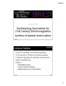 Synthesizing Geometries for 21st Century Electromagnetics