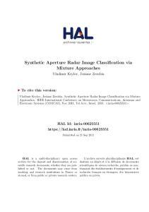 Synthetic Aperture Radar Image Classification via Mixture Approaches