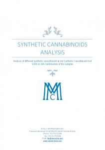 SYNTHETIC CANNABINOIDS ANALYSIS