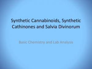 Synthetic Cannabinoids, Synthetic Cathinones and Salvia Divinorum. Basic Chemistry and Lab Analysis