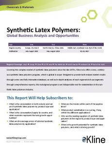 Synthetic Latex Polymers: Global Business Analysis and Opportunities