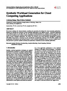 Synthetic Workload Generation for Cloud Computing Applications